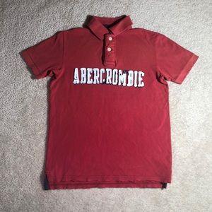Abercrombie Kids Boys Red Appliqué Logo Polo Shirt